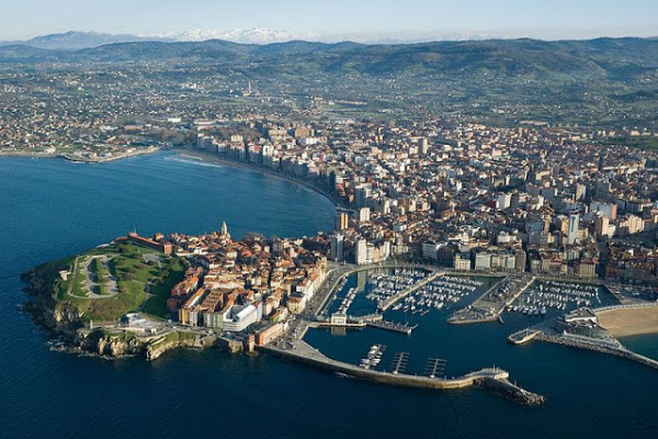 Aerial view of Gijón